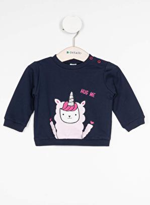 DeFacto Kız Bebek Baskılı Sweatshirt